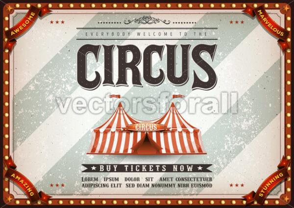 Vintage Design Horizontal Circus Poster - Vectorsforall