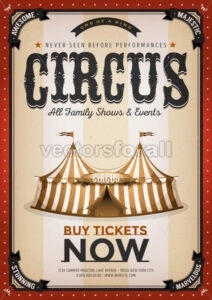 Vintage Golden Circus Background - Vectorsforall