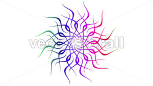 4k Abstract Looping Colorful Mandala Clip - Vectorsforall