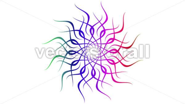 4k Abstract Looping Colorful Mandala Clip - Vectorsforall