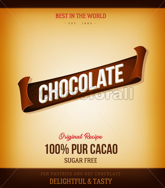 Chocolate Product Background - Vectorsforall