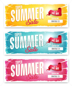 Vectorsforall royalty free vectors hot summer sale banner with coupon code fandeluxe Gallery