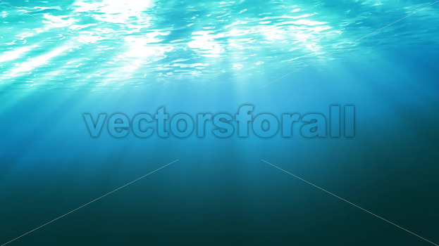 Ocean Surface Water Seen From Underwater - Vectorsforall