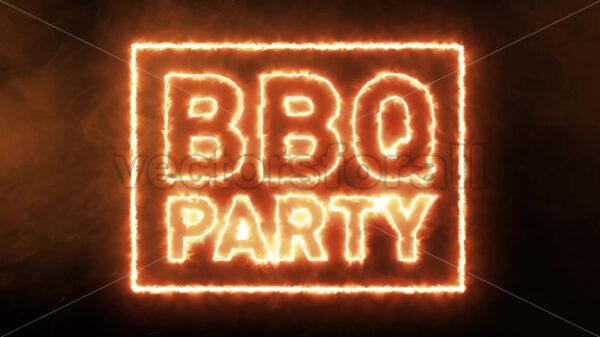 BBQ Party Fire Advertisement - Vectorsforall