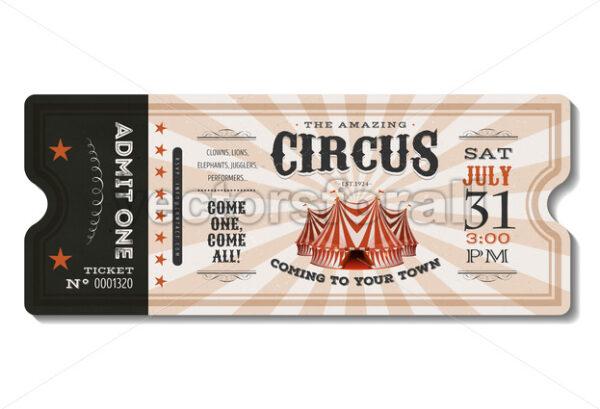 Vintage Circus Ticket - Vectorsforall