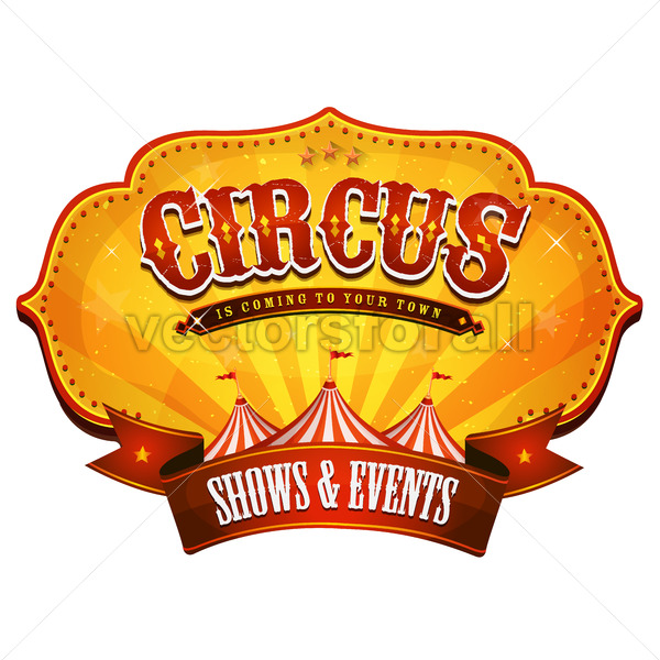 Carnival Circus Banner With Big Top - Vectorsforall
