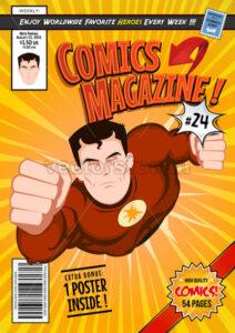 Comic Book Cover Template - Vectorsforall
