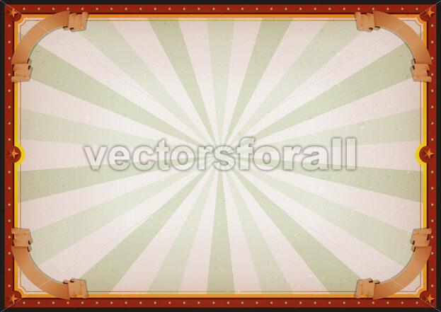 Vintage Blank Circus Poster Sign - Vectorsforall
