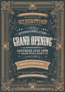 Vintage Design Invitation Background - Vectorsforall