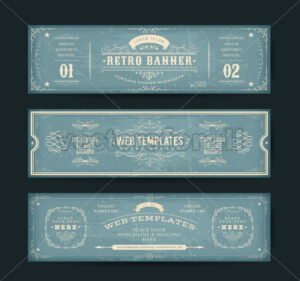 Vintage Website Banners Templates - Vectorsforall