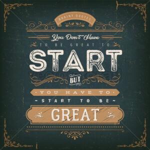 vintage-calligraphic-motivation-quote-a-journey-of - Vectorsforall
