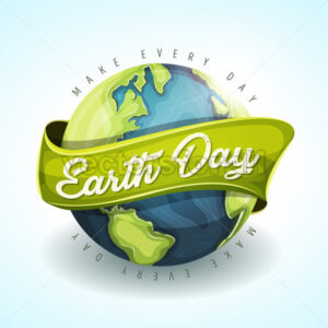 Happy Earth Day Holiday Banner - Vectorsforall