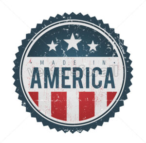Made In USA Vintage Badge Seal - Vectorsforall