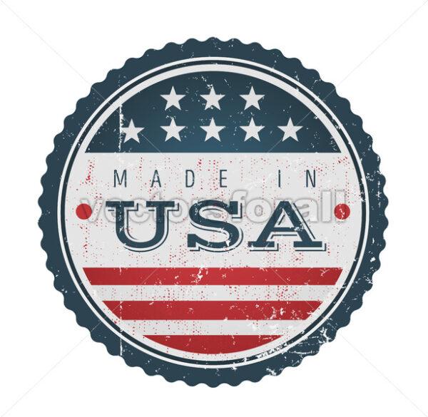 Made In USA Vintage Badge Seal - Vectorsforall