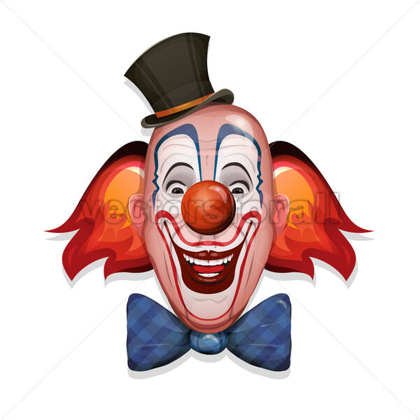 Circus Clown Face - Vectorsforall
