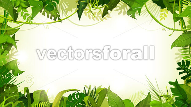 Jungle Tropical Landscape Wide Background - Vectorsforall