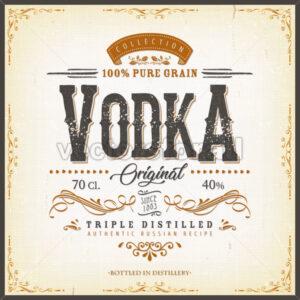 Vintage Vodka Label For Bottle - Vectorsforall