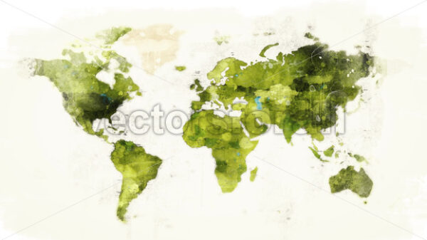 Abstract Watercolor Wold Map background Reveal - Vectorsforall