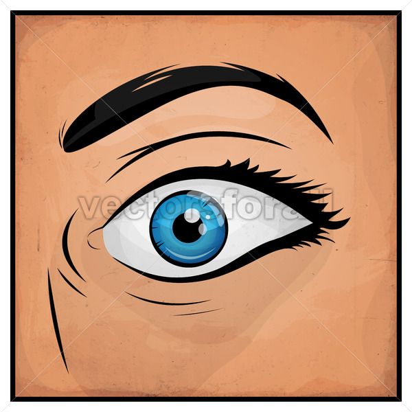 Comic Books Woman Eyes - Vectorsforall