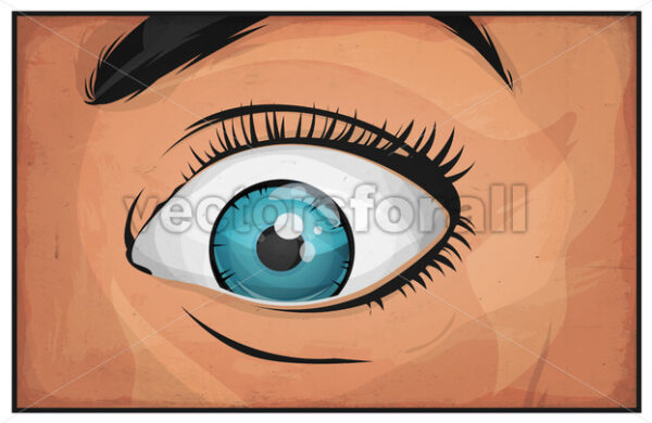 Comic Books Woman Eyes - Vectorsforall