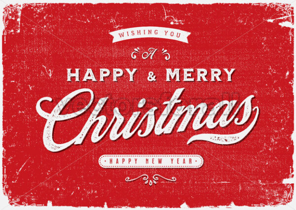 Vintage Merry Christmas Postcard - Vectorsforall