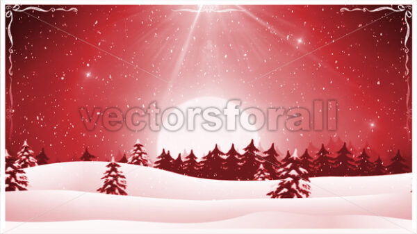 Christmas Landscape Background Loop - Vectorsforall