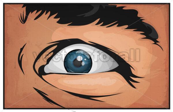 Comic Books Man Eyes Scared - Vectorsforall