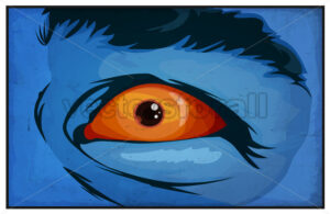 Comic Books Mutant Superhero Eyes Scared - Vectorsforall