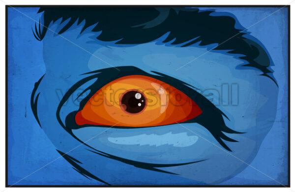 Comic Books Mutant Superhero Eyes Scared - Vectorsforall