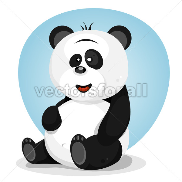 Cartoon Cute Panda Character - Vectorsforall