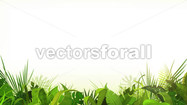 Jungle Tropical Leaves Foreground Loop - Vectorsforall