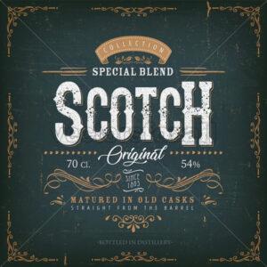Vintage Scotch Whisky Label For Bottle - Vectorsforall