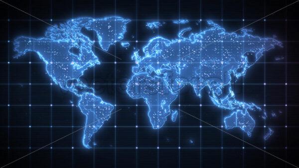 World Map Global Technology Background - Vectorsforall