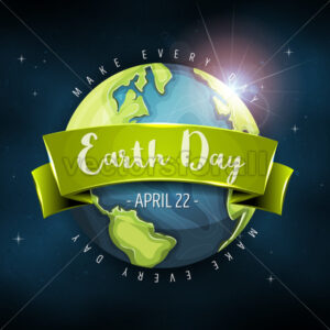 Earth Day Planet Background - Vectorsforall