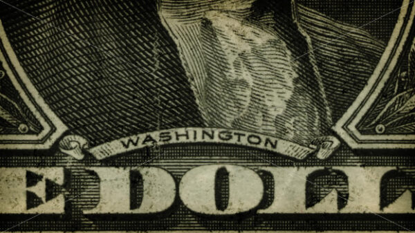 Vintage Dollar Bill Close Up Texture Animation - Vectorsforall