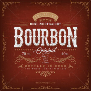 Vintage Bourbon Label For Bottle - Vectorsforall