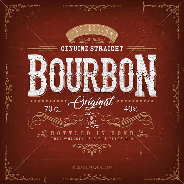 Vintage Bourbon Label For Bottle - Vectorsforall