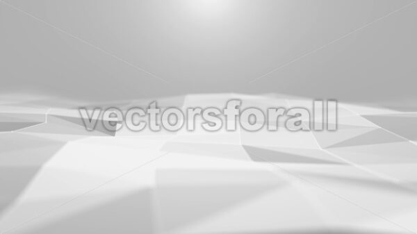 Abstract White Digital Low Polygons Background Loop - Vectorsforall