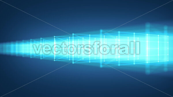 3d Cube Structure With Glowing Strokes Slow Shift Loop - Vectorsforall