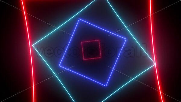 Abstract Digital Neon Background Seamless Loop - Vectorsforall