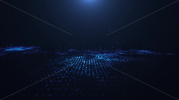 Abstract Digital Particles Field Fx Background Loop - Vectorsforall