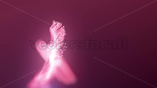 Abstract Fluid Particles Graphic Intro Background - Vectorsforall