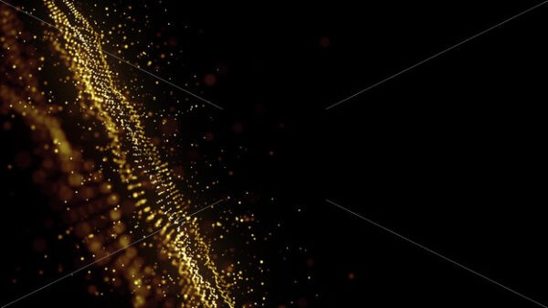 Abstract Glowing Gold Fractal Particles Background Loop - Vectorsforall