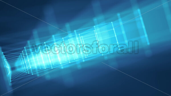 Hi-Tech Structure With Glowing Strokes Slow Shift Loop - Vectorsforall