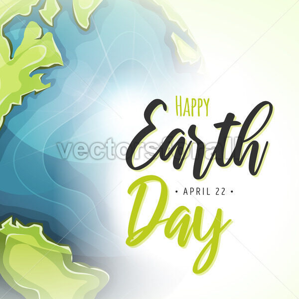 World Earth Day Postcard Background - Vectorsforall