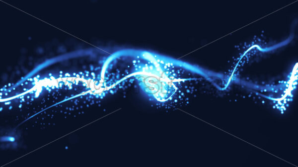 Abstract Fractal Particle Lines Stroke Wave Fx Seamless Loop - Vectorsforall