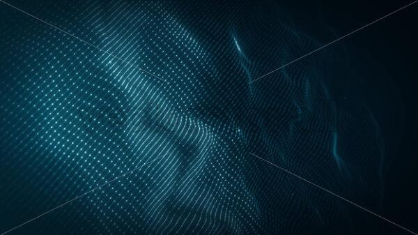 Abstract Network Mesh Waving Fx Background Loop - Vectorsforall