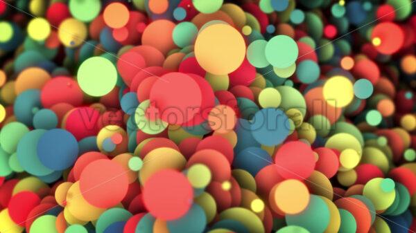 Abstract Colorful Circles Background Loop - Vectorsforall