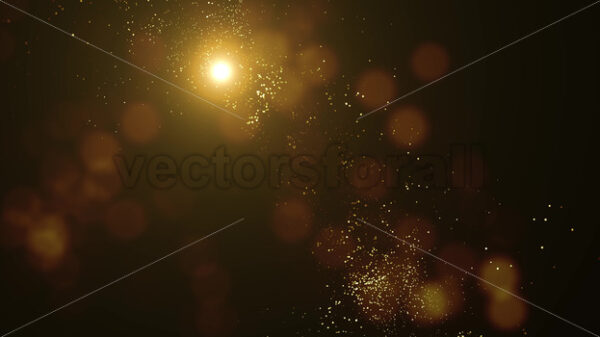 Abstract Light Gold Flowing Particles Background Loop - Vectorsforall
