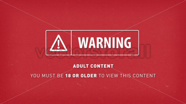 Warning Adult And Explicit Content Sign Background - Vectorsforall